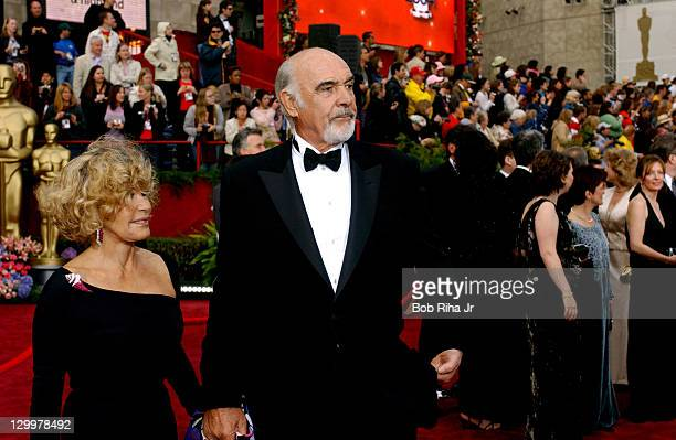 Sir Sean Connery and wife Micheline Roquebrune during The 76th Annual Academy Awards Arrivals at The Kodak Theater in Hollywood California United...