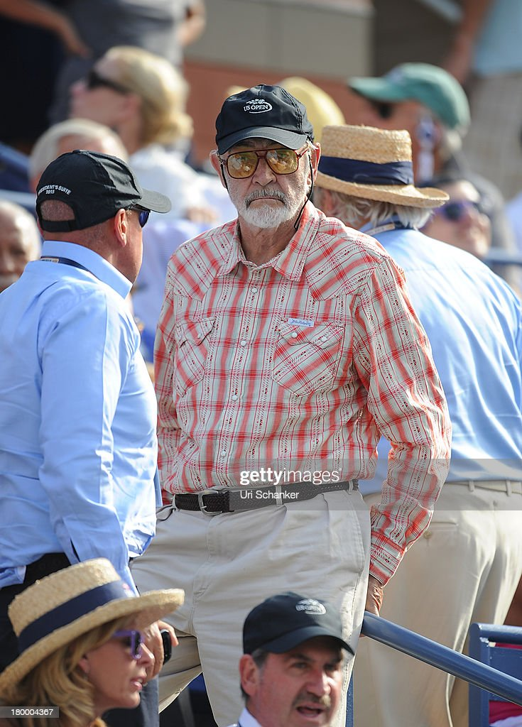 Sir <a gi-track='captionPersonalityLinkClicked' href=/galleries/search?phrase=Sean+Connery&family=editorial&specificpeople=201589 ng-click='$event.stopPropagation()'>Sean Connery</a> attends the 2013 US Open at USTA Billie Jean King National Tennis Center on September 7, 2013 in New York City.