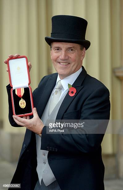 Sir Simon Hughes after he was Knighted by Queen Elizabeth II during an Investiture Ceremony at Buckingham Palace on November 10 2015 in London England