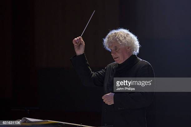 Sir Simon Rattle and the LSO perform Ligeti's Le Grand Macabre at Barbican Centre on January 13 2017 in London England