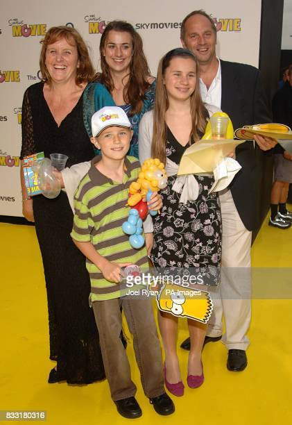 Sir Steve Redgrave and family arrive for the UK Premiere of The Simpsons Movie at the Vue Cinema The O2 Peninsula Square London