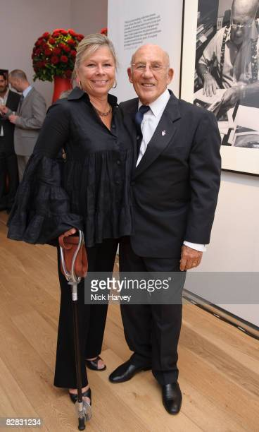 Sir Stirling Moss and Lady Moss attends TAG Heuer British Formula 1 Photographs Exhibition at Mall Galleries on September 15 2008 in London England