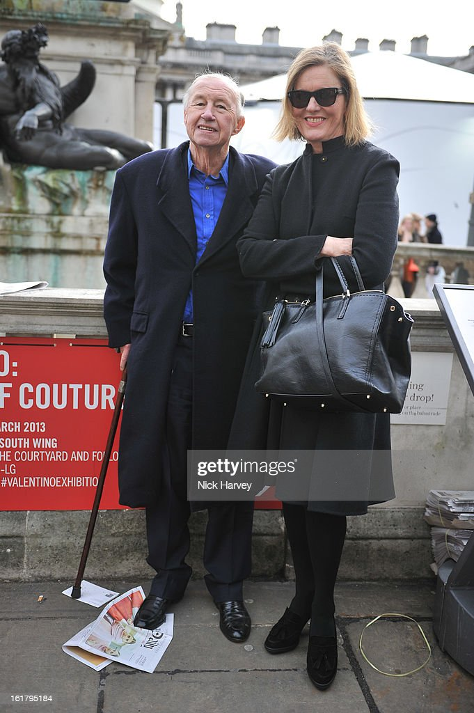 Sir Terence Conran and Victoria Conran attend the Jasper Conran show during London Fashion Week Fall/Winter 2013/14 at Somerset House on February 16, 2013 in London, England.
