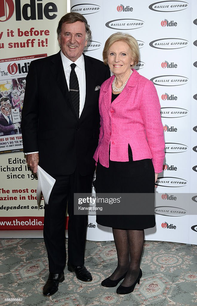 Sir Terry Wogan and Mary Berry attend the Oldie of the Year awards at Simpsons in the Strand on February 4, 2014 in London, England.