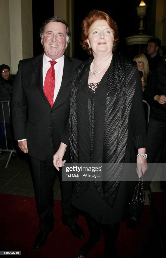 Sir Terry Wogan and wife Helen arriving for the first night of the musical 'Oliver!' at the Theatre Royal in Drury Lane, central London.