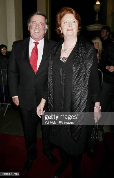 Sir Terry Wogan and wife Helen arriving for the first night of the musical 'Oliver' at the Theatre Royal in Drury Lane central London