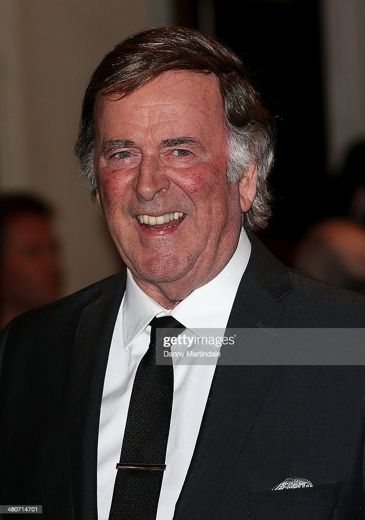 Sir Terry Wogan attends the press night of 'I Can't Sing! The X Factor Musical' at London Palladium on March 26, 2014 in London, England.