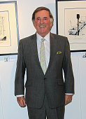 Sir Terry Wogan unveils the new TOGS Collection by artist MAC at Harrods on December 17 2010 in London England