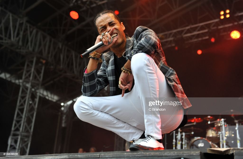 Sir the Baptist performs on stage during Day 6 of Kew the Music at Kew Gardens on July 16, 2017 in London, England.