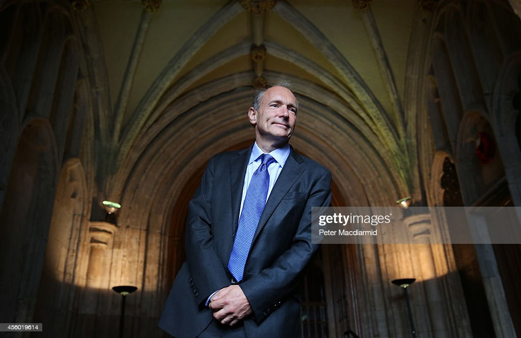 Sir <a gi-track='captionPersonalityLinkClicked' href=/galleries/search?phrase=Tim+Berners-Lee&family=editorial&specificpeople=2609258 ng-click='$event.stopPropagation()'>Tim Berners-Lee</a> inventor of the World Wide Web arrives at Guildhall to receive an Honorary Freedom of the City of London award on September 24, 2014 in London, England. During the ceremony involving the 125 elected Members of the City of London Corporation, Sir Tim will be invited to join the ranks of leading world figures and statesmen, such as Lord Nelson, Winston Churchill, Florence Nightingale, Princess Diana, Nelson Mandela, and most recently, Archbishop Desmond Tutu.