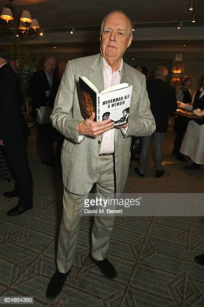 Sir Tim Rice attends the launch of Sir Michael Parkinson's new book 'Muhammad Ali A Memoir' at Fortnum Mason on November 21 2016 in London England