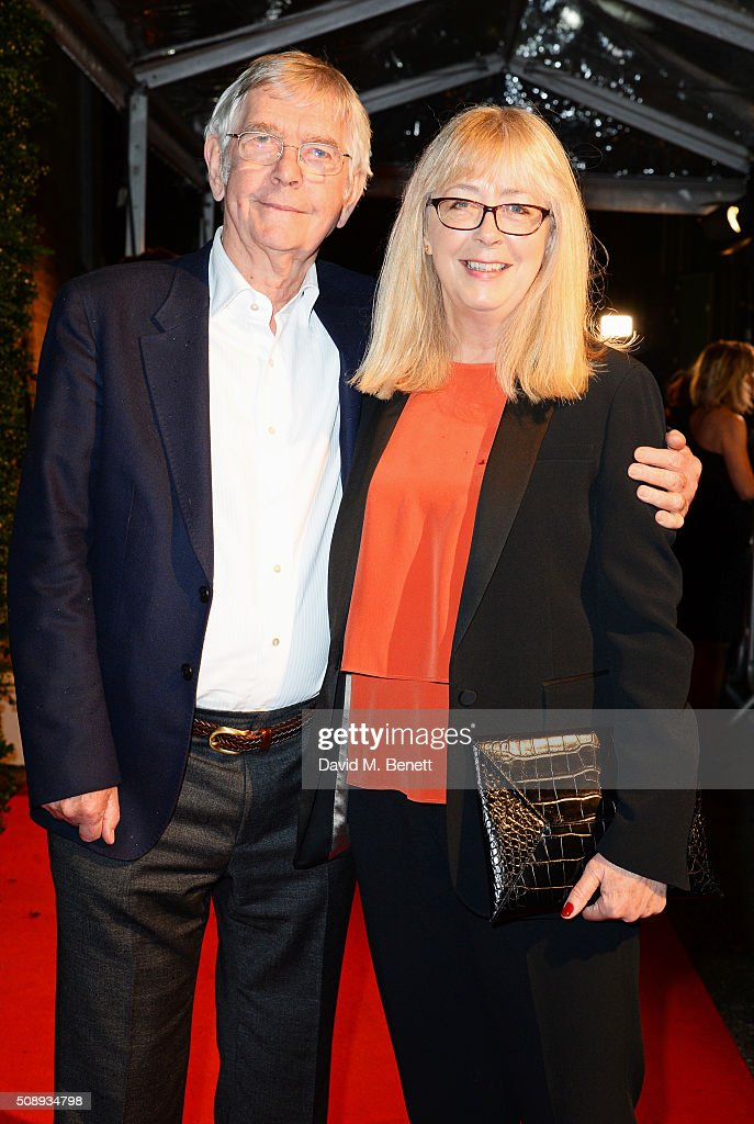 Sir Tom Courtenay and Isabel Crossley arrive at the London Evening Standard British Film Awards at Television Centre on February 7 2016 in London...