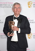 Sir Tom Courtenay winner of Best Supporting Actor for 'Unforgotten' poses in the winners room at the House Of Fraser British Academy Television...