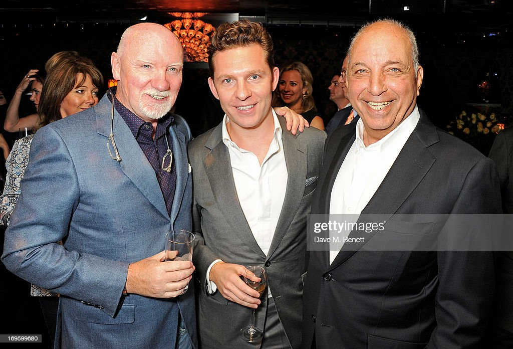 Sir Tom Hunter, Nick Candy and David Reubeb attend the launch of 'The New Digital Age: Reshaping The Future Of People, Nations and Business' by Eric Schmidt and Jared Cohen, hosted by Jamie Reuben, at Loulou's on May 28, 2013 in London, England.