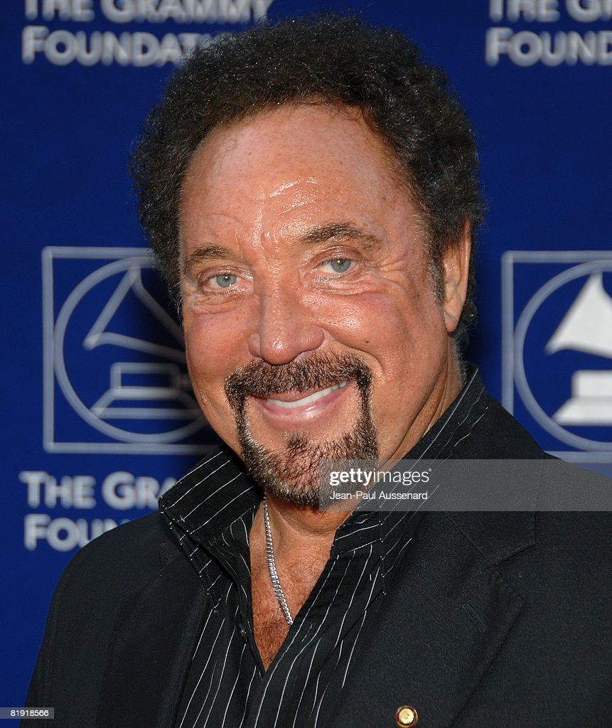 Sir Tom Jones arrives at the GRAMMY Foundation Starry Night held at the University of Southern California on July 12th, 2008 in Los Angeles, California.