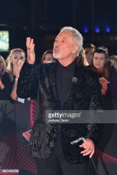 Sir Tom Jones arrives during The Voice UK 2018 launch photocall at Media City on October 17 2017 in Manchester England
