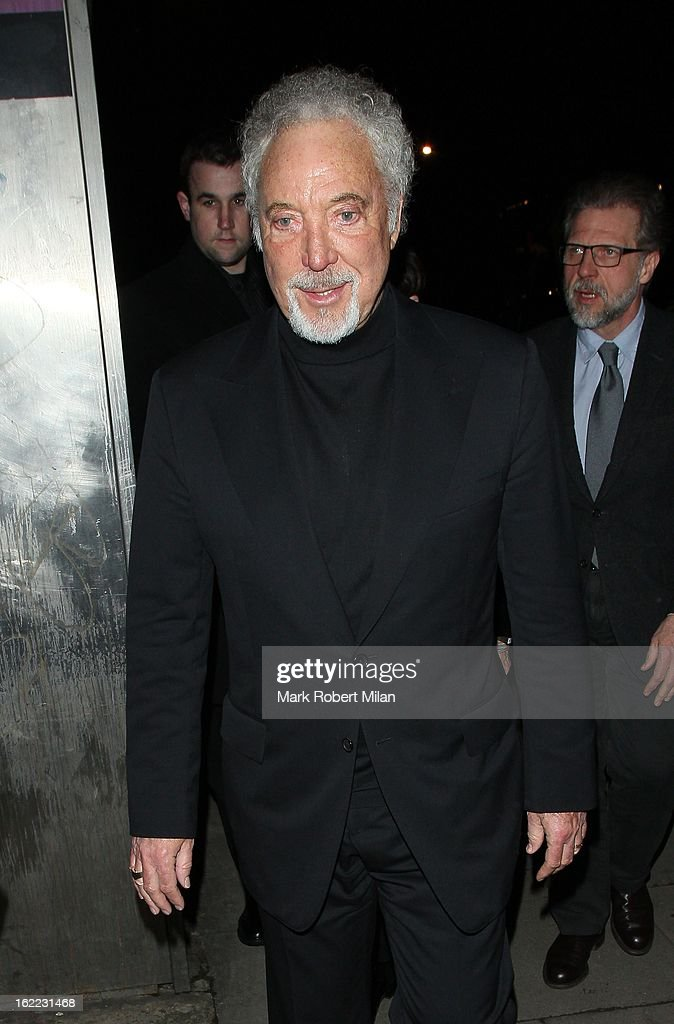 Sir Tom Jones at The Kentish Town forum for Justin Timberlakes live show on February 20, 2013 in London, England.