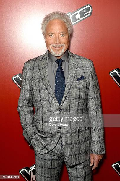 Sir Tom Jones attends the launch of 'The Voice UK' Series 4 at The Mondrian Hotel on January 5 2015 in London England