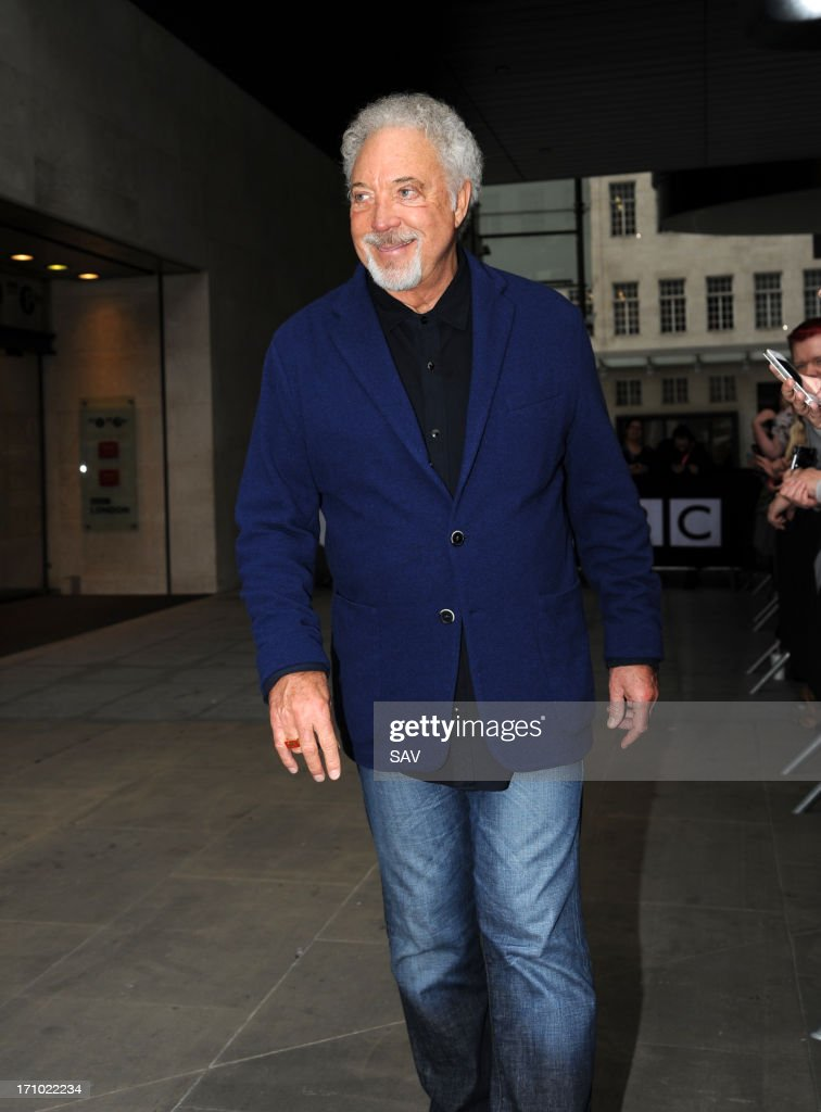 Sir <a gi-track='captionPersonalityLinkClicked' href=/galleries/search?phrase=Tom+Jones+-+Singer&family=editorial&specificpeople=11484419 ng-click='$event.stopPropagation()'>Tom Jones</a> pictured at the BBC studios on June 21, 2013 in London, England.