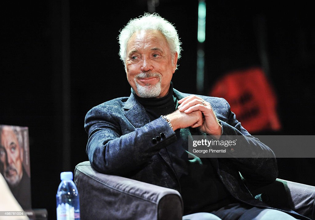 Sir Tom Jones promotes his new book 'Over The Top And Back: The Autobiography' at The Opera House on November 25, 2015 in Toronto, Canada.