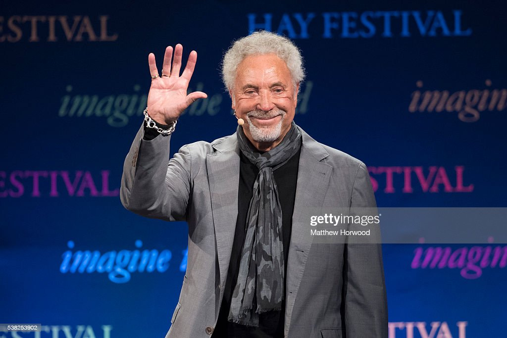 Sir Tom Jones speaks during the 2016 Hay Festival on June 5, 2016 in Hay-on-Wye, Wales. This is the Welsh singer's first public appearance since the death of his wife Lady Melinda Rose Woodward who died on April 10, 2016.