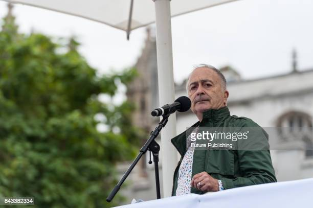 Sir Tony Robinson addresses a crowd at a Royal College of Nursing rally in Parliament Square against the pay restraint and the 1% pay cap on nursing...