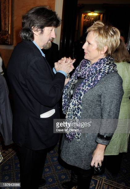 Sir Trevor Nunn and Jennifer Saunders attend an after party following the Press Night performance of 'The Lion In Winter' at The Institute of...