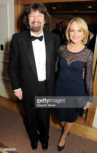 Sir Trevor Nunn attends a drinks reception at the 58th London Evening Standard Theatre Awards in association with Burberry at The Savoy Hotel on...