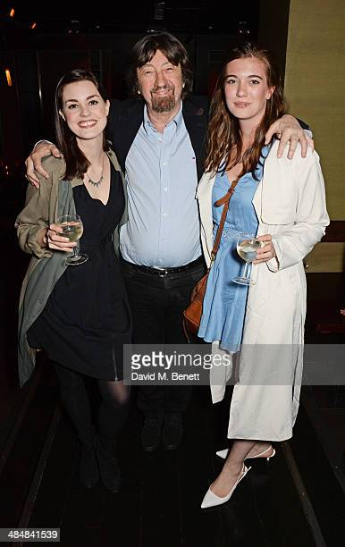 Sir Trevor Nunn with daughters Amy Nunn and Ellie Nunn attend an after party celebrating the press night performance of 'Relative Values' at Mint...