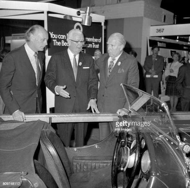 ** Sir William Lyons founder of Jaguar Cars who officially opened the 57th International Motor Exhibition at London's Earls Court on the stand of the...