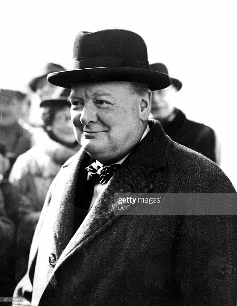 Sir Winston Churchill (1874-1965), British statesman, 1944.