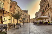 main street in siracusa downtown