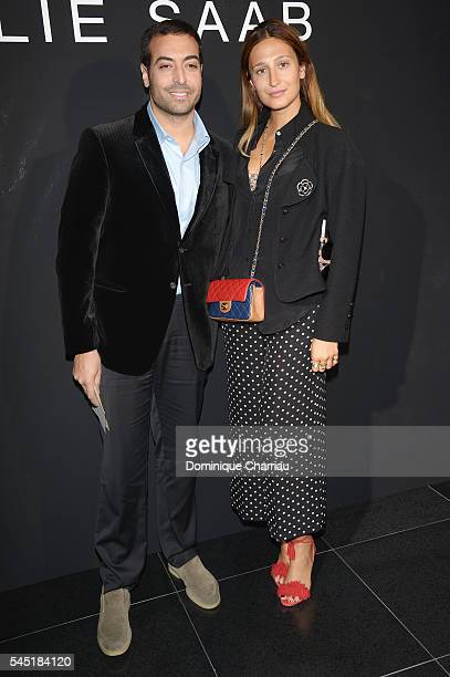 Siran Manoukian and Mohammed Al Turki attend the Elie Saab Haute Couture Fall/Winter 20162017 show as part of Paris Fashion Week on July 6 2016 in...