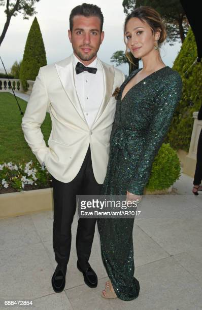 Siran Manoukian and Tommy Chiabra arrives at the amfAR Gala Cannes 2017 at Hotel du CapEdenRoc on May 25 2017 in Cap d'Antibes France