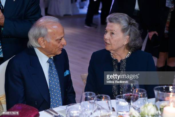 Sirdar Aly Aziz princes Anne Of France during the wedding of Prince Philip Of Serbia And Danica Marinkovic at The White Palace on October 7 2017 in...