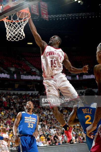 Sir'Dominic Pointer of the Cleveland Cavaliers goes to the basket against the Golden State Warriors on July 10 2017 at the Thomas Mack Center in Las...