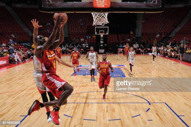 Sir'Dominic Pointer of the Cleveland Cavaliers goes to the basket against the Toronto Raptors on July 14 2017 at the Thomas Mack Center in Las Vegas...