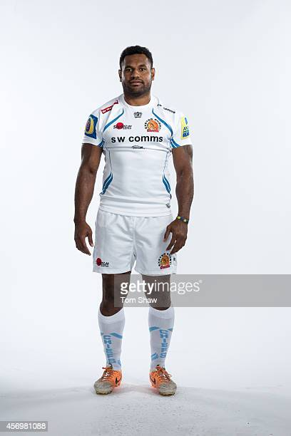 Sireli Naqelevuki of Exeter Chiefs poses for a picture during the BT Photo Shoot at Sandy Park on August 26 2014 in Exeter England