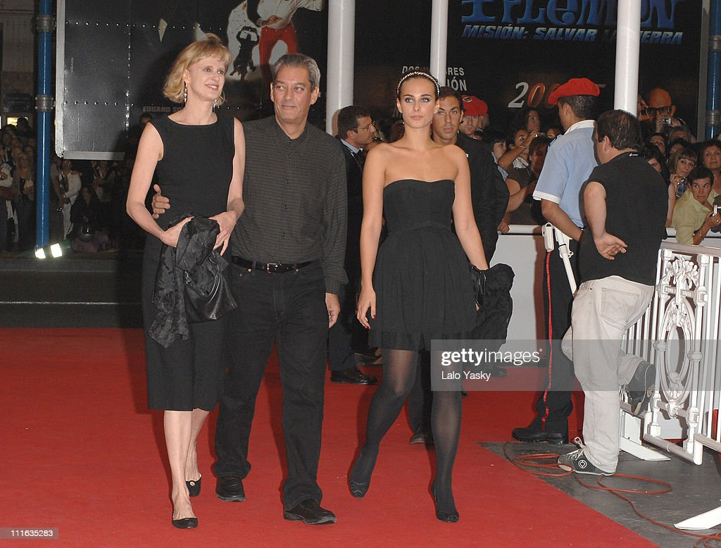 Siri Hustved, director Paul Auster and actress Sophie Auster attend The Inner Life of Martin Frost Premiere at the Kursaal Palace during the 2007 San Sebastian Film Festival, on September 23, 2007 in San Sebastian, Spain.