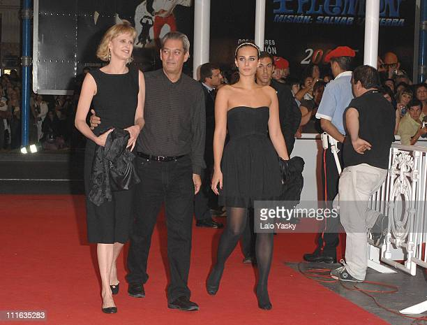 Siri Hustved director Paul Auster and actress Sophie Auster attend The Inner Life of Martin Frost Premiere at the Kursaal Palace during the 2007 San...