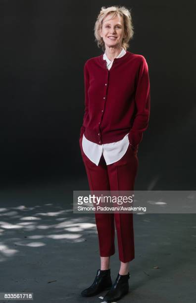 Siri Hustvedt attends a photocall during the Edinburgh International Book Festival on August 17 2017 in Edinburgh Scotland