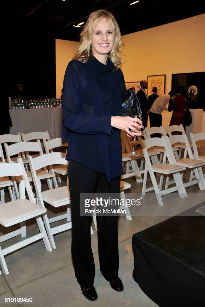 Siri Hustvedt attends THE WOOSTER GROUP First Benefit Art Auction at Sean Kelly Gallery on March 15 2010 in New York City