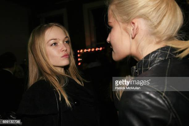 Siri Tollerod and guest attend RADAR ENTERTAINMENT THE LAST MAGAZINE Toast Fashion Week at Studio 385 Broadway on February 20 2009 in New York City