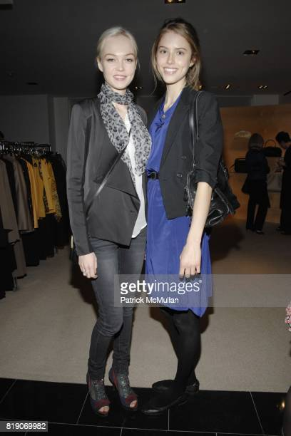 Siri Tollerod and Taryn Davidson attend BERGDORF GOODMAN Celebrates 30 Seasons of Steven Klein with AKRIS at BERGDORF GOODMAN on March 18 2010 in New...