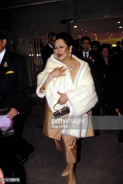 Sirikit at Defile Nagara in Paris France on April 16 1997