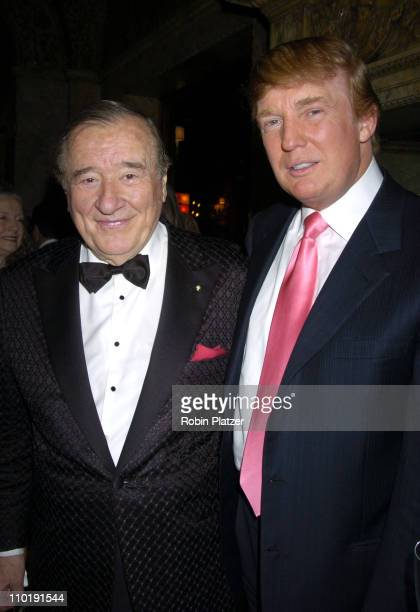 Sirio Maccioni and Donald Trump during 'Sirio The Story of My Life' and 'Le Cirque' by Sirio Maccioni and Peter Elliot Book Party at Le Cirque in New...