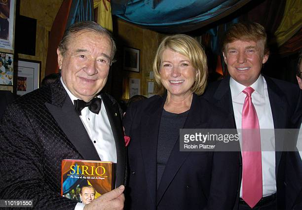 Sirio Maccioni Martha Stewart and Donald Trump during 'Sirio The Story of My Life' and 'Le Cirque' by Sirio Maccioni and Peter Elliot Book Party at...