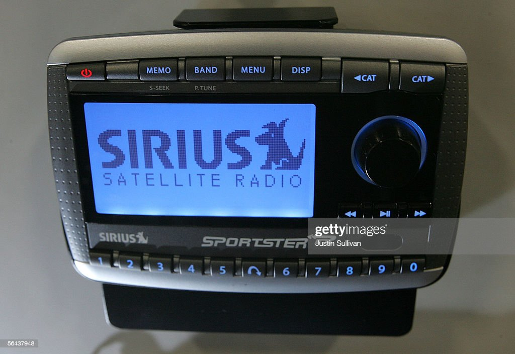 Sirius satellite radio is displayed at a Best Buy store December 15 2005 in San Francisco California Sirius is hoping that the January 2006 debut of...