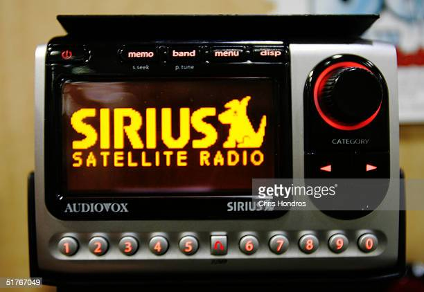 Sirius satellite radio set is seen November 19 2004 in New York City Satellite radio is steadily gaining momentum in recent months as shares of...