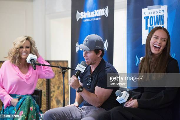 Sirius XM Host Jenny McCarthy Mark Wahlberg and Laura Haddock attend SiriusXM's 'Town Hall' With the Cast of 'Transformers The Last Knight' Town Hall...